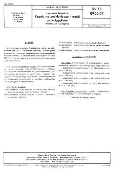 Lampownie kopalniane - Regały na pochłaniacze i maski przeciwpyłowe - Podstawowe wymagania BN-73/8902-07