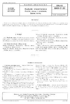 Budynki inwentarskie - Podział, nazwy i określenia - Zakres normy BN-81/8800-01.00