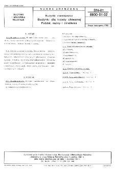 Budynki inwentarskie - Budynki dla trzody chlewnej - Podział, nazwy i określenia BN-81/8800-01.02