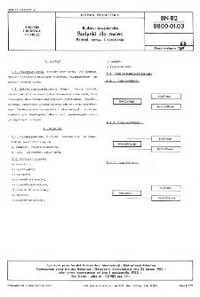 Budynki inwentarskie - Budynki dla owiec - Podział, nazwy i określenia BN-82/8800-01.03