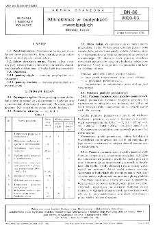 Mikroklimat w budynkach inwentarskich - Metody badań BN-86/8800-03