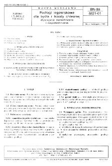 Podłogi legowiskowe dla bydła i trzody chlewnej - Wymagania zootechniczne i ciepłotechniczne BN-88/8821-01