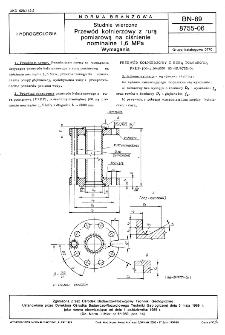 Studnie wiercone - Przewód kołnierzowy z rurą pomiarową na ciśnienie nominalne 1,6 MPa - Wymagania BN-89/8755-06