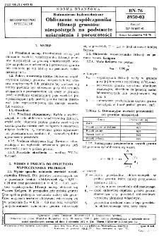 Budownictwo hydrotechniczne - Obliczanie współczynnika filtracji gruntów niespoistych na podstawie uziarnienia i porowatości BN-76/8950-03