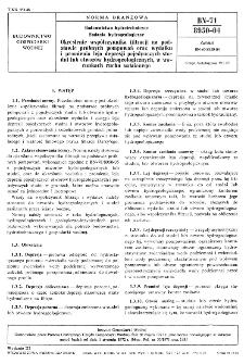 Budownictwo hydrotechniczne - Badania hydrogeologiczne - Określenie współczynnika filtracji na podstawie próbnych pompowań oraz wydatku i promieniowania leja depresji pojedynczych studni lub otworów hydrogeologicznych, w warunkach ruchu ustalonego BN-71/8950-04