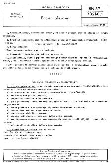 Papier afiszowy BN-67/7321-07