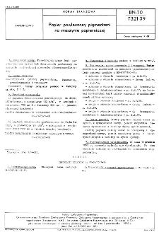 Papier powleczony pigmentami na maszynie papierniczej BN-70/7321-09