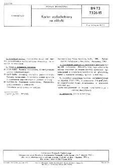 Karton uszlachetniony na okładki BN-73/7326-15