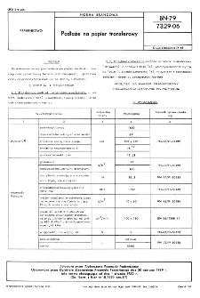 Podłoże na papier transferowy BN-79/7329-06