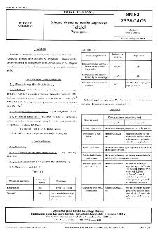 Sztuczna okleina na nośniku papierowym - Tetefol - Wymagania BN-83/7338-04.05