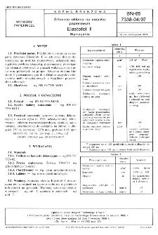 Sztuczna okleina na nośniku papierowym - Elastofol F - Wymagania BN-85/7338-04/07