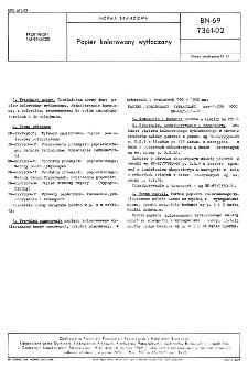 Papier kolorowany wytłaczany BN-69/7361-02