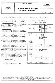 Papiery do maszyn biurowych do pisania i powielania BN-69/7322-01
