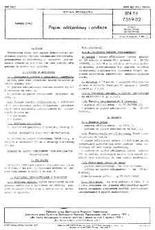 Papier odbijankowy i podłoże BN-74/7369-02