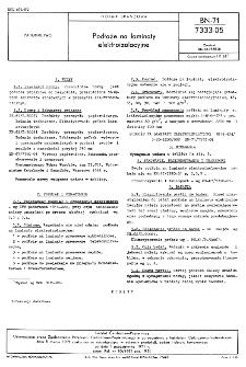 Podłoże na laminaty elektroizolacyjne BN-71/7333-05