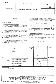 Bibuła do sączenia olejowa BN-73/7327-03