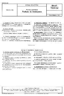 Wytwory papiernicze - Podłoże do kredowania BN-69/7329-04