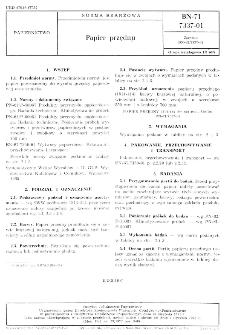 Papier przędny BN-71/7337-01
