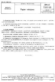 Papier nabojowy BN-67/7337-03
