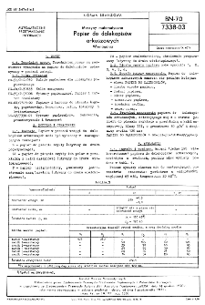 Maszyny matematyczne - Papier do dalekopisów arkuszowych - Wymagania BN-70/7338-03
