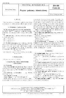 Papier pakowy obwolutowy BN-88/7326-09