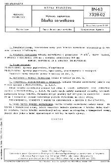 Wytwory papiernicze - Bibułka serwetkowa BN-63/7328-02