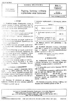 Papiery, kartony i tektury wytłaczane oraz falowane BN-71/7369-01