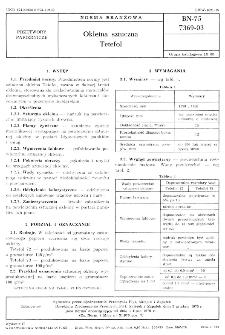 Okleina sztuczna - Tetefol BN-75/7369-03