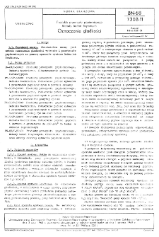 Produkty przemysłu papierniczego - Metody badań fizycznych - Oznaczanie gładkości BN-68/7308-11