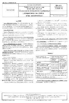Produkty przemysłu papierniczego - Metody badań fizycznych - Oznaczanie obciążenia zrywającego i przepuklenia na mokro oraz wodotrwałości BN-69/7308-14