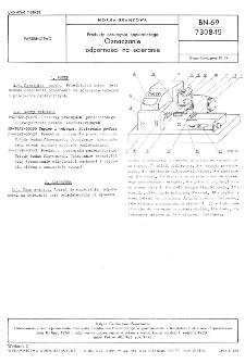 Produkty przemysłu papierniczego - Oznaczanie odporności na ścieranie BN-69/7308-15