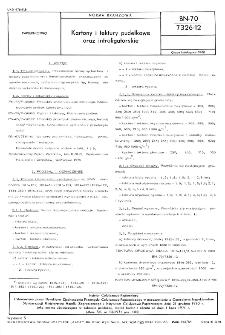 Kartony i tektury pudełkowe oraz introligatorskie BN-70/7326-12