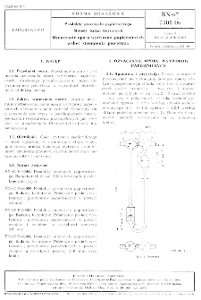 Produkty przemysłu papierniczego - Metody badań fizycznych - Oznaczanie oporu wytworów papierniczych wobec strumienia powietrza BN-67/7308-06