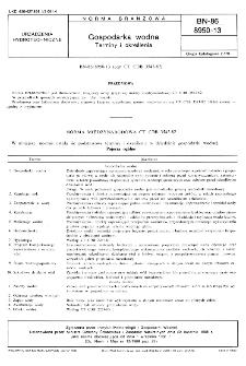 Gospodarka wodna - Terminy i określenia BN-86/8950-13