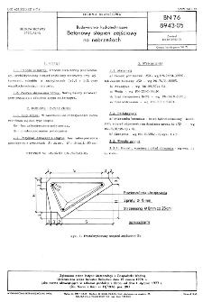 Budownictwo hydrotechniczne - Betonowy stopień zejściowy na nabrzeżach BN-76/8943-05