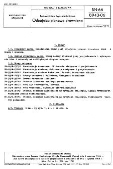 Budownictwo hydrotechniczne - Odbojnica pionowa drewniana BN-66/8943-06