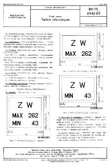 Znaki wodne - Tablice informacyjne BN-75/8943-09