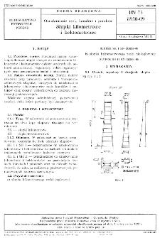 Oznakowanie rzek, kanałów i potoków - Słupki kilometrowe i hektometrowe BN-75/8950-09