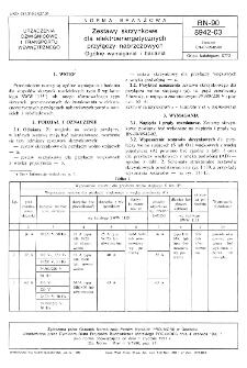 Zestawy skrzynkowe dla elektroenergetycznych przyłączy nabrzeżowych - Ogólne wymagania i badania BN-90/8942-03