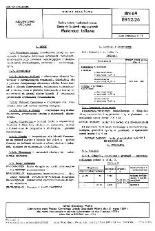 Budownictwo hydrotechniczne - Elementy budowli regulacyjnych - Materace taflowe BN-69/8952-26