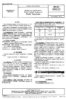 Budownictwo hydrotechniczne - Elementy budowli regulacyjnych - Kiszki faszynowe BN-69/8952-27