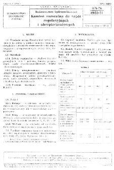 Budownictwo hydrotechniczne - Kamień naturalny do robót regulacyjnych i ubezpieczeniowych BN- 76/8952-31