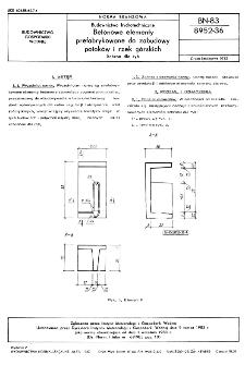 Budownictwo hydrotechniczne - Betonowe elementy prefabrykowane do zabudowy potoków i rzek górskich - Schron dla ryb BN-83/8952-36