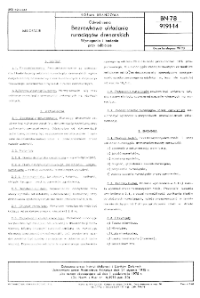 Odwodnienia - Bezrowkowe układanie rurociągów drenarskich - Wymagania i badania przy odbiorze BN-78/9191-14