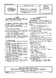 Opakowania z mrożonymi produktami żywnościowymi - Wymagania i badania techniczne BN-72/8160-08