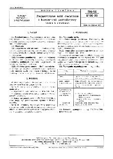 Zagęszczone soki owocowe i koncentrat pomidorowy - Ocena w chłodniach BN-86/8160-09