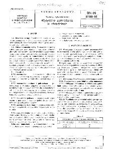 Towary żywnościowe - Wytyczne zamrażania w chłodniach BN-86/8160-10