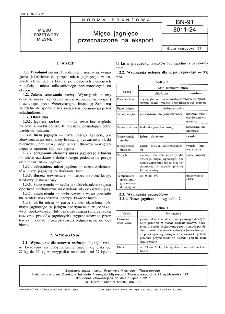 Mięso jagnięce przeznaczone na eksport BN-91/8011-24