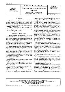Tłuszcze zwierzęce jadalne topione - Wykrywanie i oznaczanie zawartości łoju w smalcu BN-84/8013-07