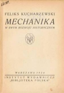 Mechanika w swym rozwoju historycznym